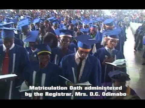 RSUST - Nigeria's Foremost e-Varsity - Matriculation 101