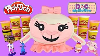 GIANT 3D Surprise Egg Doc McStuffins Play Doh Lambie | Shopkins Frozen Lalaloopsy MLP Toys