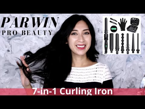 Amazon Finds - Parwin Pro Beauty 7 N 1 Curling Iron Review/Demo   AlexaStyleBook