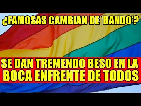 ¿FAMOSAS CAMBIAN DE 'BANDO'?, ¡SE DAN TREMENDO BESO EN LA BOCA ENFRENTE DE TODOS