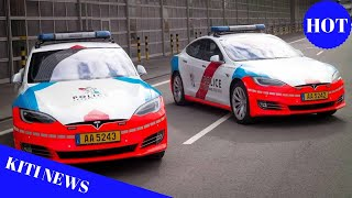Tesla Model S high-speed police cruisers deployed in Luxembourg