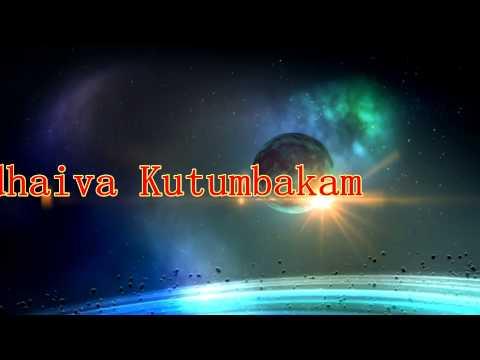 Theme For Bharathi Night 2014 ( Vasudhaiva Kutumbakam ) video