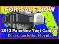2013 Forest River Palomino Tent Camper 4127 Folding Trailer, Florida, Ft Myers, Sarasota