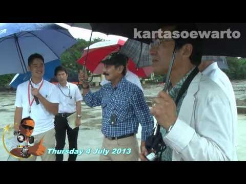 Japan Public Works Team Visited Pluit Reservoir (Original Audio)