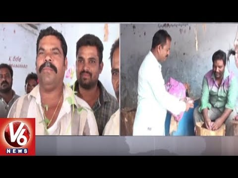 Vemulawada Municipal Employees Innovative Program To Ban Plastic | V6 News