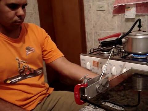 Motor à vapor totalmente caseiro