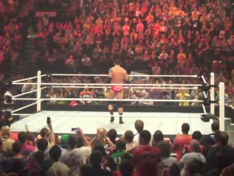 Wade Barrett thanks the British crowd post RAW, Birmingham, UK - 05.11.12