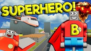 BECOMING LEGO SUPERHEROES & JOINING THE AVENGERS! - Brick Rigs Roleplay Gameplay - Lego City Jobs