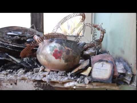 Жизнь в Донецке  Церковь в руинах! Украина новости сегодня