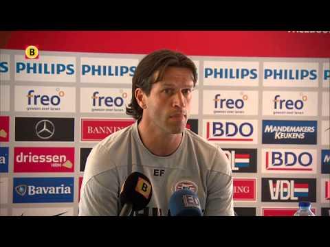 Perspraatje PSV-coach Ernest Faber: 'Grote teleurstelling als we geen vierde worden'