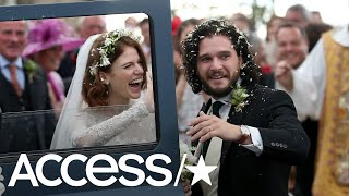 'Game Of Thrones' Stars Kit Harington & Rose Leslie Are Married! | Access