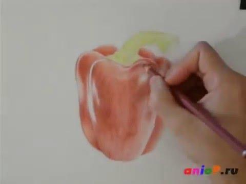 Видео как научиться рисовать цветными карандашами