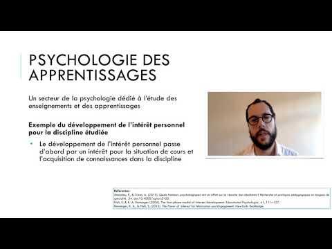 Recherches en psychologie des apprentissages