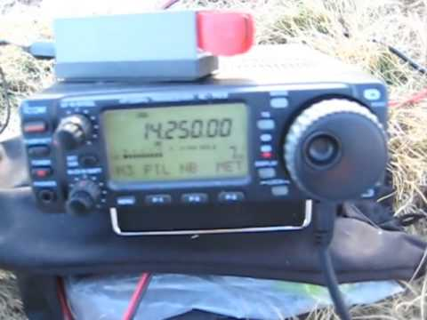 Buddipole  4' Top Hat on 20m & IC703