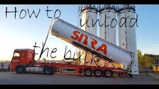 How to unload the bulk tanker into the Silo