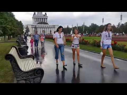 جولة سريعة في حديقة المعارض/ موسكو Walking in beautiful garden in Moscow, Rassia