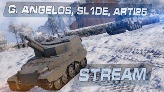 Стрим шоу - G. Angelos, SL1DE, Arti25 / Тёмная сторона World of Tanks