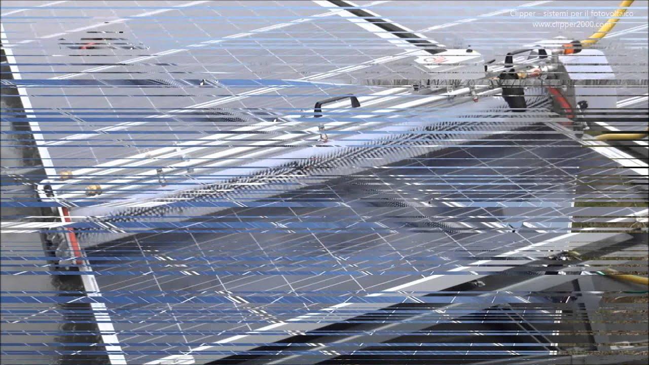 Pannello Solare Su Tetto Condominiale : Clipper srl washpanel sistema manuale lavaggio pannelli