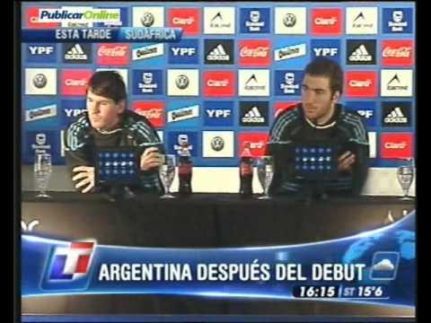 Messi Esta Selección no depende de mí, en declaraciones junto a Higuain
