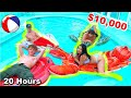 LAST TO LEAVE the FREEZING POOL WINS $10,000 Challenge