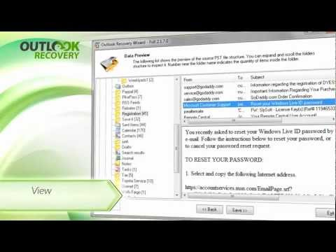 Outlook Recovery Wizard: Repair Outlook OST and PST data, Convert OST to PST format.