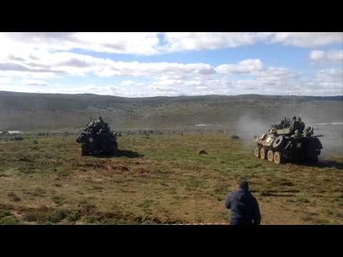 American and South African Army Training together in Grahamstown, South Africa
