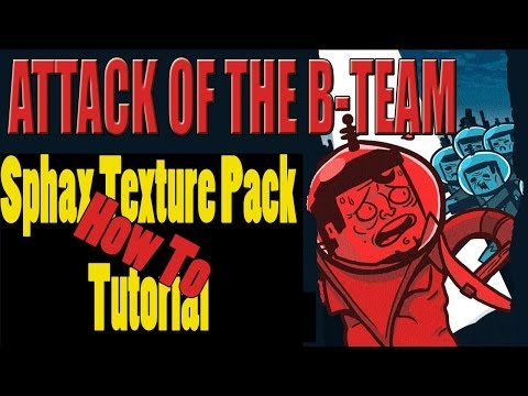Minecraft Tutorial: Sphax Texture Pack (Resouce Pack) in Attack of the B-Team verwenden