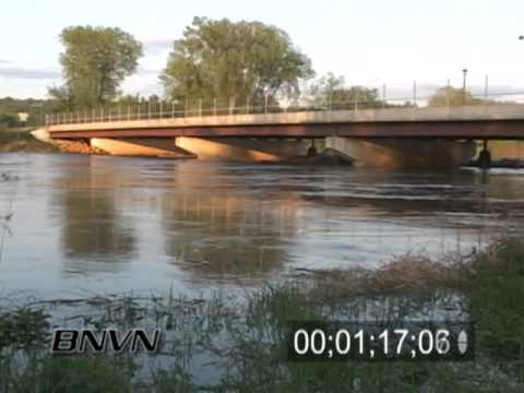 5/14/2005 High river and flooding stock video