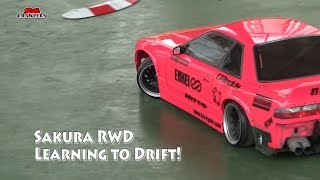3Racing Sakura D4 RWD 1/10 Drift Car RC drifting with Tamiya Scale Interiors - Learning to drift