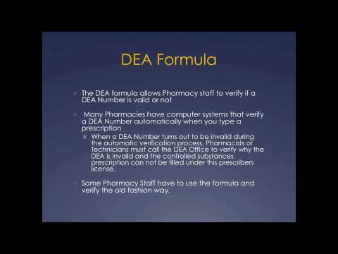 Pharmacy Technician Math Review Dea Number Formula Youtube