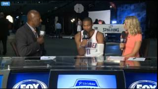 Kevin Durant and Russel Westbrook - Media Day 2014
