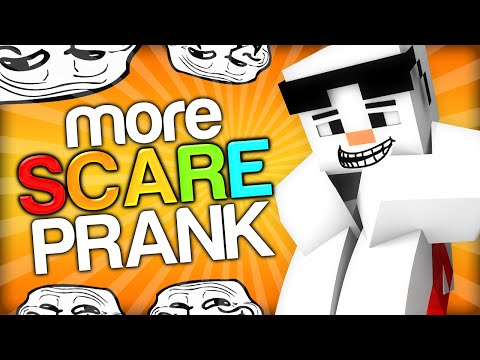 SCARING A SNOWMAN Minecraft Trolling Youtubers with Minecraft Mods Scare Prank on Baki