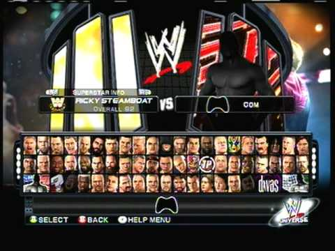 Smack down vs Raw 2011: All Characters