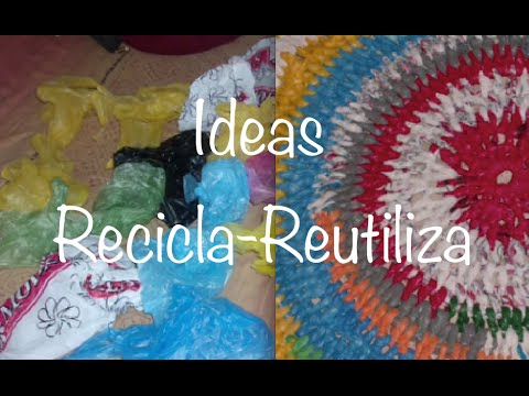0.8 RECICLA BOLSAS DE PLASTICO / RECYCLE PLASTIC BAGS GANCHILLO CROCHET