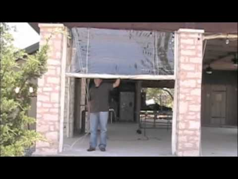 Clear Plastic Vinyl Patio Curtains Amp Walls Youtube