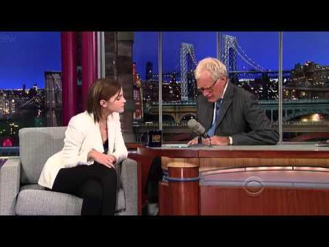 David Letterman - Emma Watson - 9/05/12