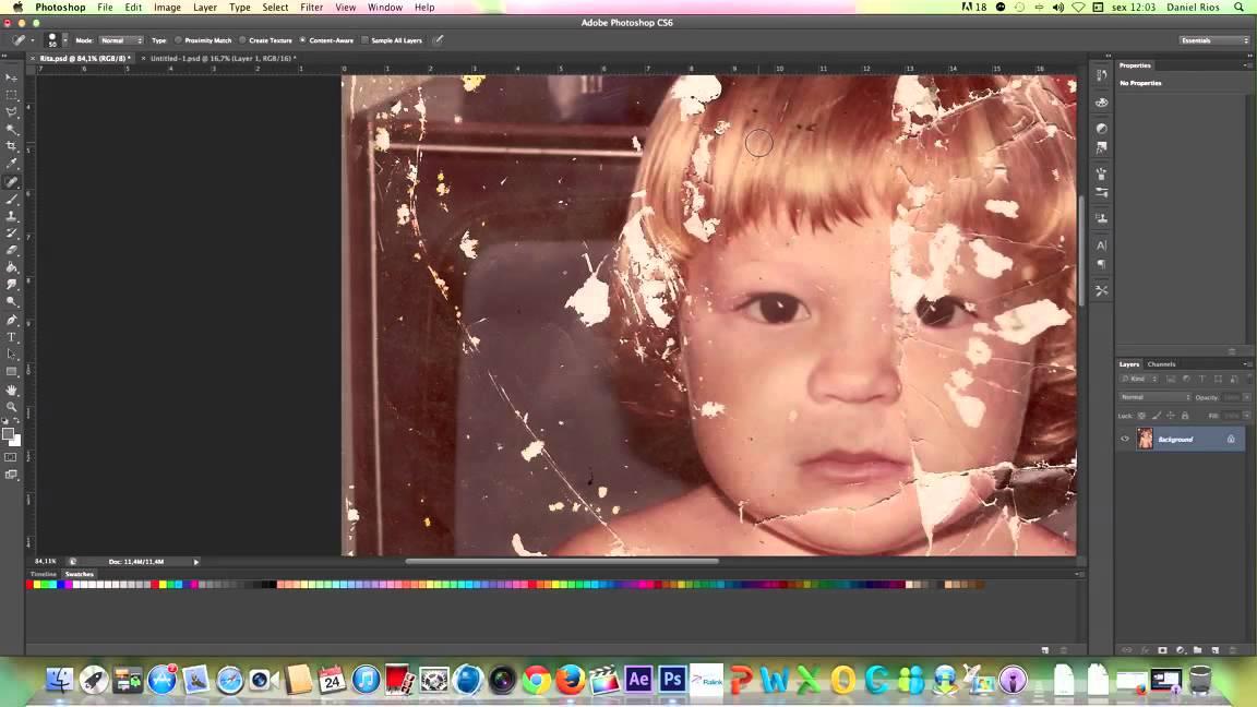Vídeo Aula Grátis do curso Restauração de fotos antigas ...