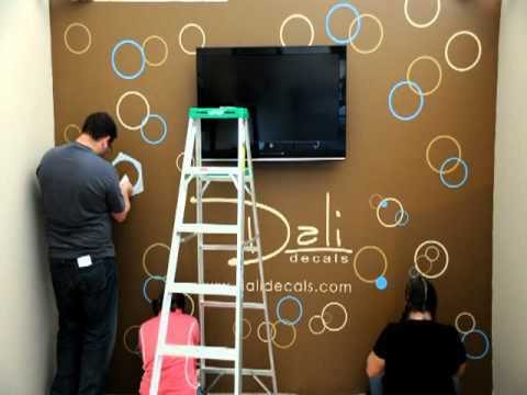 Dali Wall Decals Circles And Bubbles Installation Youtube