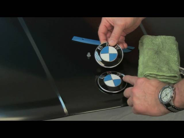 BMW Hood and Trunk Roundel Emblem Replacement - YouTube