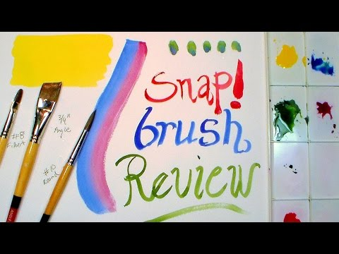 Cheap Brush Review: SNAP! Brushes by Princeton