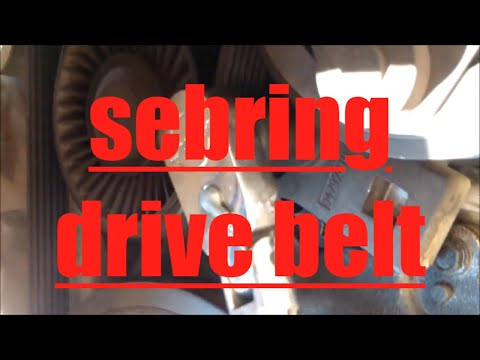 DIY How to replace install alternator ac drive belt 2005 Chrysler Sebring