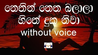 Nethin Netha Balala Karaoke (without voice) නෙතින් නෙත බලාලා