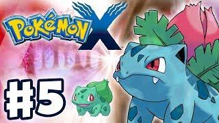 Pokemon X and Y - Gameplay Walkthrough Part 5 - Bulbasaur Evolves into Ivysaur! (Nintendo 3DS)