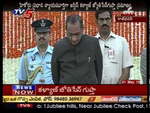 Justice Kalyan Jyothi Sengupta takes oath as Chief Justice of Andhra Pradesh High Court  TV5