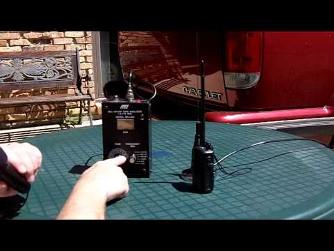 A Short Demo Using The MFJ 209 Antenna Analyzer