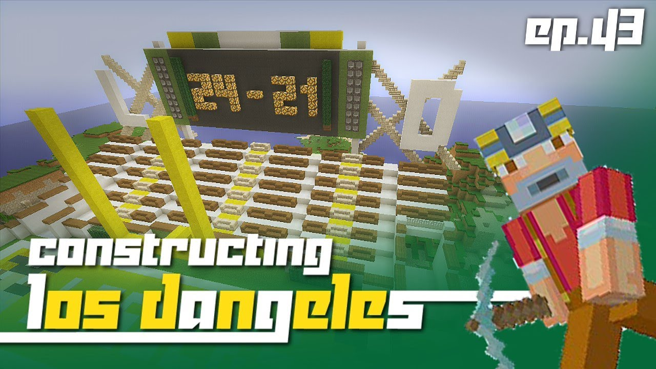 Minecraft Xbox 360 Constructing Los Dangeles Episode 44