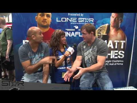 Olympia 2013 interview with Matt Hughes & BJ Penn. Image 1