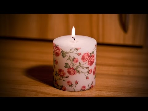 Декупаж свечи сделанной своими руками 31