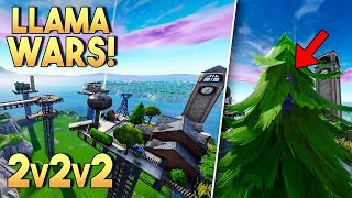 LLAMA WARS 2v2v2! - Fortnite Creative (Nederlands)