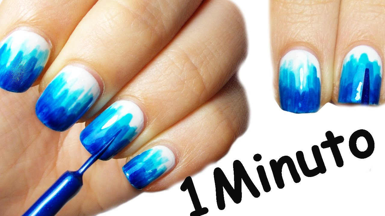 NAIL ART TUTORIAL in un Minuto Super FACILE #3 - YouTube